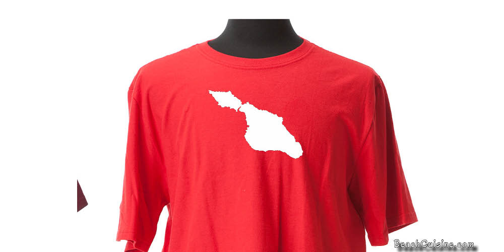 Catalina Island Tshirt in Red